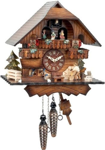 Black Forest Cuckoo Clock with Wood Chopper