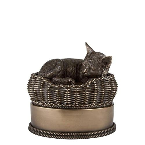 Perfect Memorials Cat In Basket Urn: