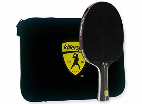 Killerspin Jet Black Ping Pong Racket Combo