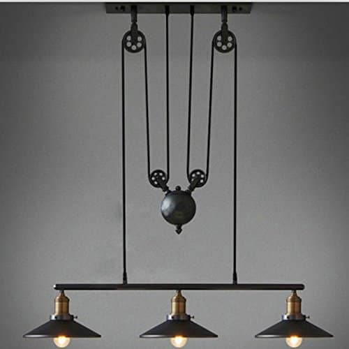 Farm-style Meets Modern Three Light Chandelier