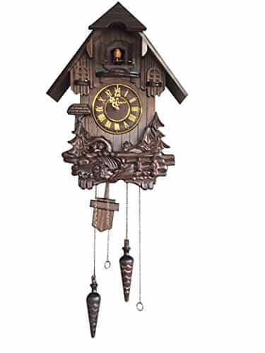 Black Forest Hand-Carved Wooden Cuckoo Clock