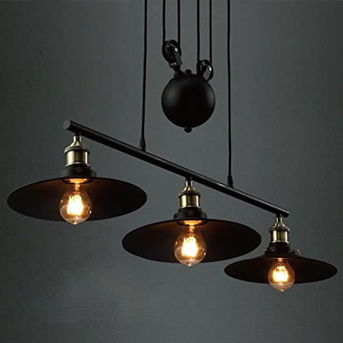 Stunning Three Light Retro Chandelier Fixture
