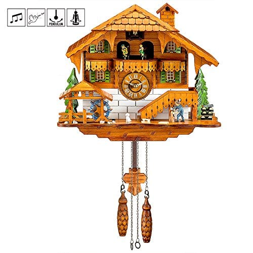 Quartz Black Forest Chalet-style Cuckoo Clock