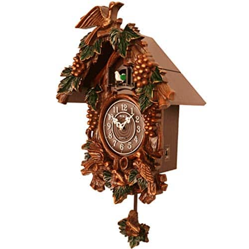 Handcrafted Wooden Cuckoo Clock with Pendulum