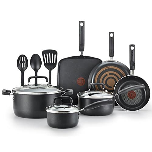 T-fal Signature Non-stick Expert 12-Piece Black Cookware Set