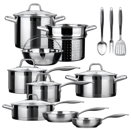 Duxtop Professional 17 piece Stainless Steel Induction Cookware Set