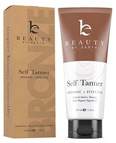 Self Tanner - Organic and Natural Ingredients Sunless Tanning Lotion and Best Bronzer Buildable Light, Medium or Dark Tan for Body and Face