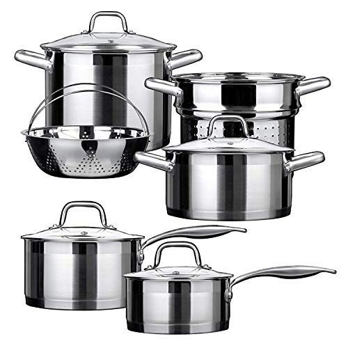 Duxtop 10-piece Stainless Steel Cookware