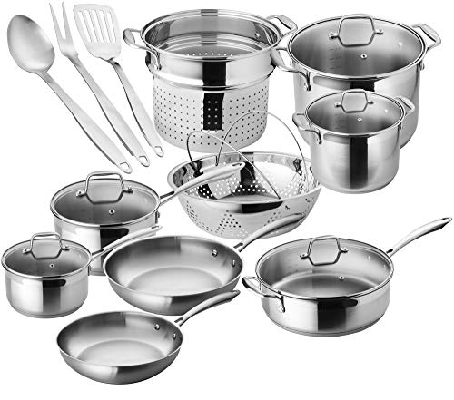 Chef's Star Professional Grade Stainless Steel 17 Piece Pots & Pans