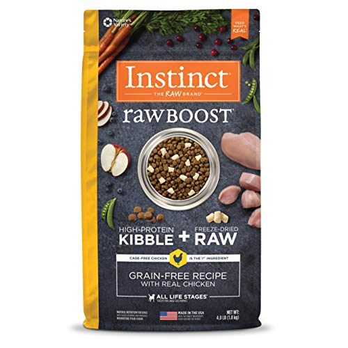 Nature's Variety Instinct Raw Boost Grain Free Recipe Natural Dry Dog Food Chicken