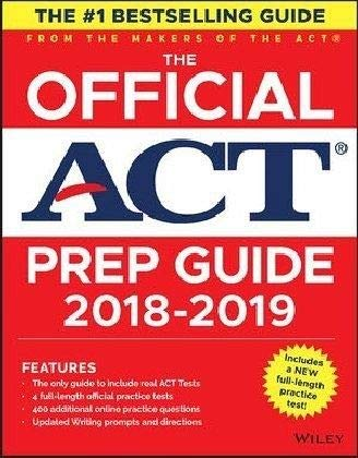 The Official ACT Prep Guide, 2018-19 Edition (Book + Bonus Online Content) 1st Edition