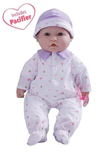 JC Toys, La Baby 16-inch Purple Washable Soft Baby Doll