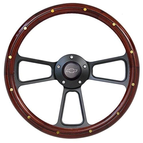 Fits Chevy Pick-Up Truck 1974-1994 Real Wood Steering Wheel Kit Silverado C10 CK