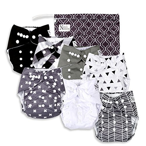 Nora's Nursery Unisex Baby Cloth Pocket Diapers 7 Pack