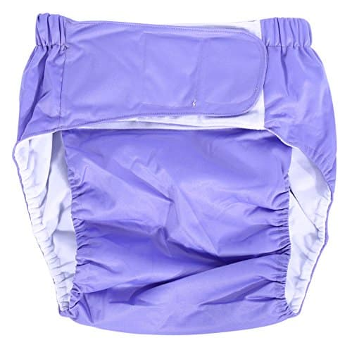 Teen and Adults Cloth Diapers: Adjustable and Washable Dual Opening Pockets Leak-free Insert for Incontinence Care Light Purple