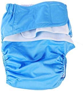 Healifty Washable underwear 2pcs Adult Diapers Covers Reusable Incontinence Pants Cloth Diaper Wraps