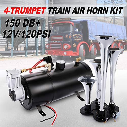 Juane 150DB Train Air Horn Kit for Trucks