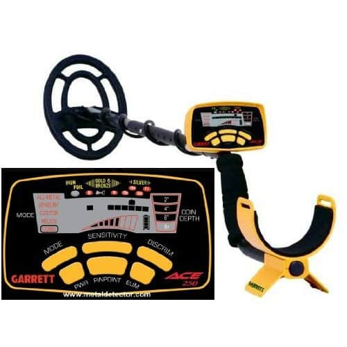 Garrett 250 ACE Metal Detector With Submersible Coil
