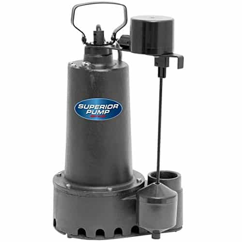 Superior Pump 92511 1/2 HP Cast Iron Submersible Sump Pump