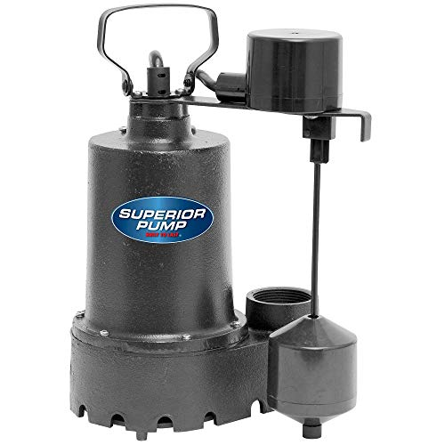 Superior Pump 92341 1/3 HP Cast Iron Submersible Sump Pump