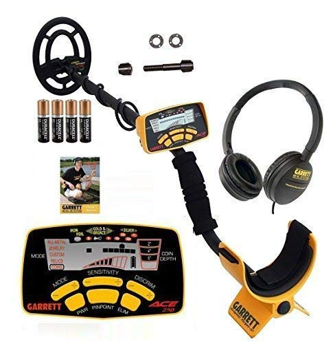 Garrett 250 ACE Metal Detector With Submersible Search Coil Plus Headphones