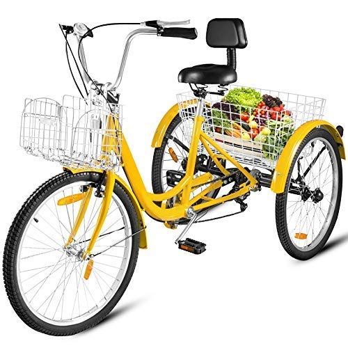 Happybuy Adult Tricycle Single 7 Speed