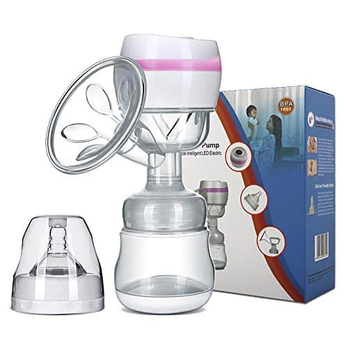 Electric Breast Pump Portable Battery Baby Milk Extractor Rechargeable Single Breastfeeding Pump