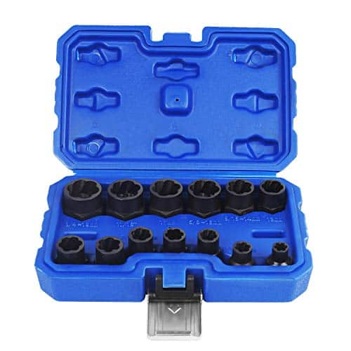 Eapele Impact Bolt Nut Removal Extractor Socket Tool Set