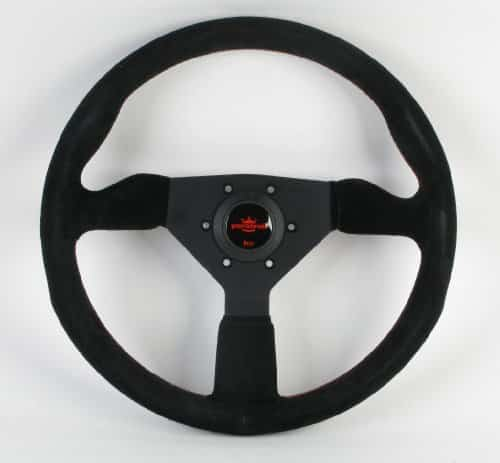 Personal Steering Wheel - Grinta - 350mm (Black with Red Stiching)