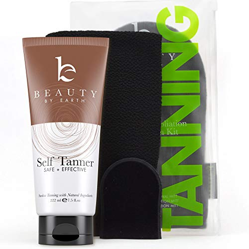 Self-Tanner & Tanning Mitt Set by Beauty by Earth