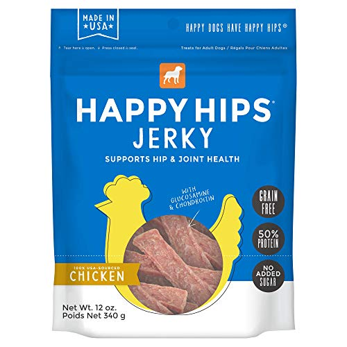 Happy Hips 100% Meat Jerky Dog Treats, Grain-Free