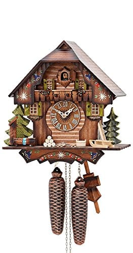 German Cuckoo Clock 8-day-movement Chalet-Style 13 inch