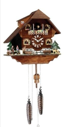 Heidelberg Swiss Chalet Home Black Forest Cuckoo Clock