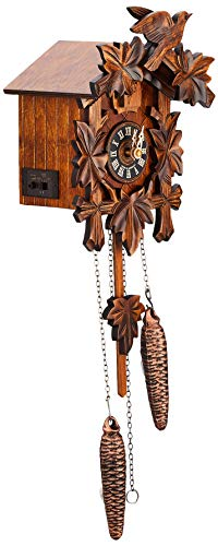 River City Cuckoo Clock with Five Leaves and Bird