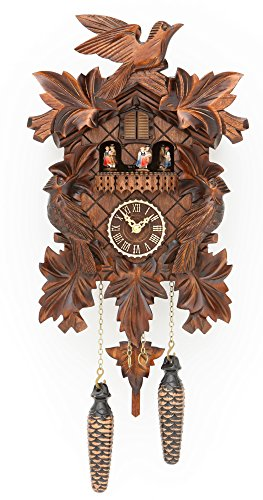 Trenkle Quartz Cuckoo Clock with Music 7 Leaves
